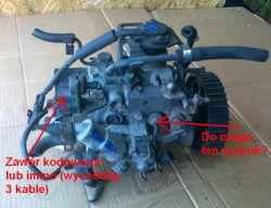 Opel Corsa B 1.5D - Podłączenie pompy wtryskowej z zaworem kodowanym(immo)