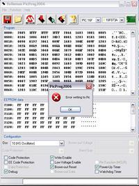 Pic16f873 Problem z wczytaniem pliku HEX vm134+PicProg2006