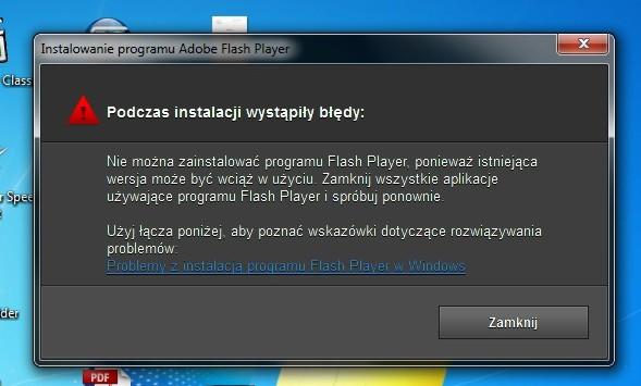 Nie mogę zainstalować Adobe Flash Player