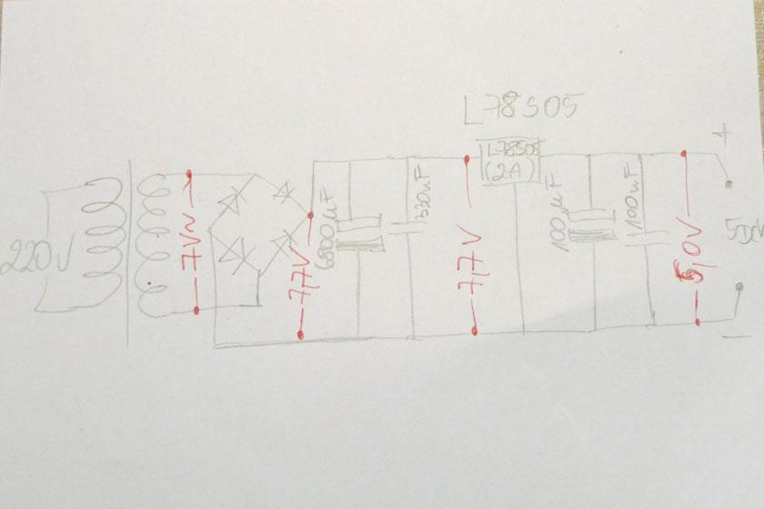 bardzo grzeje si� stabilizator 5V w zasilaczu - pro�ba o rozwi�zanie
