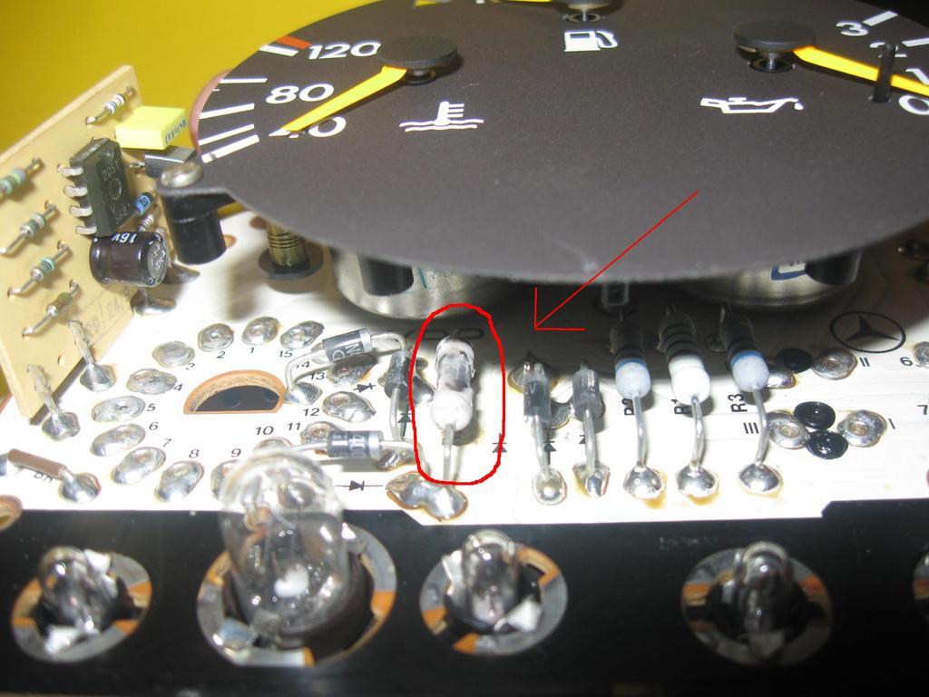 Mercedes W124 Rezystor licznik