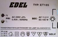 Zasilacz do halogenów EDEL