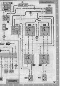 Volvo V40 97 - Poliftowe przełączniki opuszczania szyb, podłączenie z 5 na 6 pin