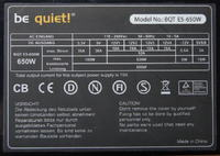 "Be Quiet model  BQT E5-650W - ""Cykanie"""