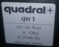 kolumna głośnikowa Quardal QU1 - Regeneracja głośnika - jaka cewka?