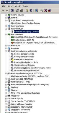 ExpressCard Echo Indigo DJx - karta muzyczna - konflikt zasobów windows xp