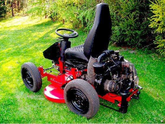 Chc� zrobic traktorek do koszenia trawy. Jak to zrobic?