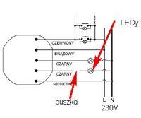 Zasilanie LED z przekaźnika bistabilnego (BIS 404)