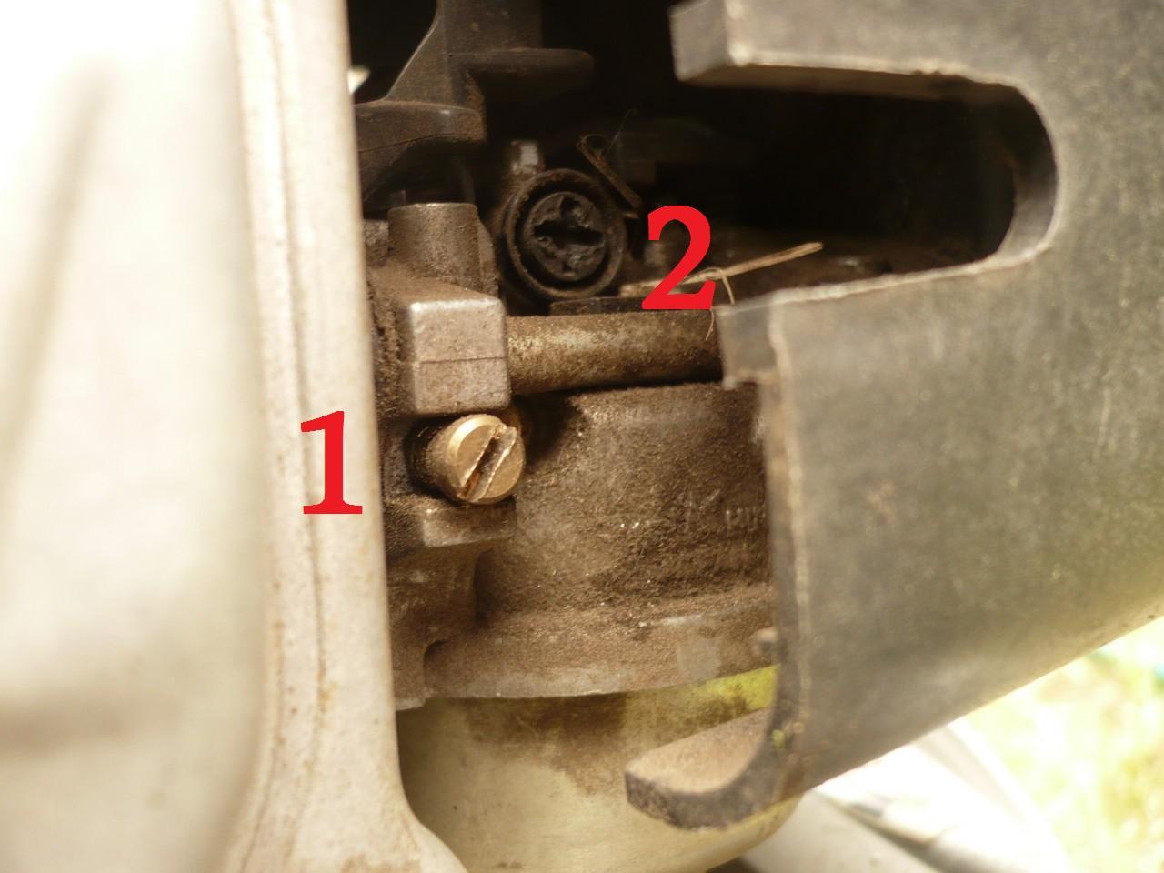 Honda GXV 140 - Regulacja ga�nika i obrot�w.