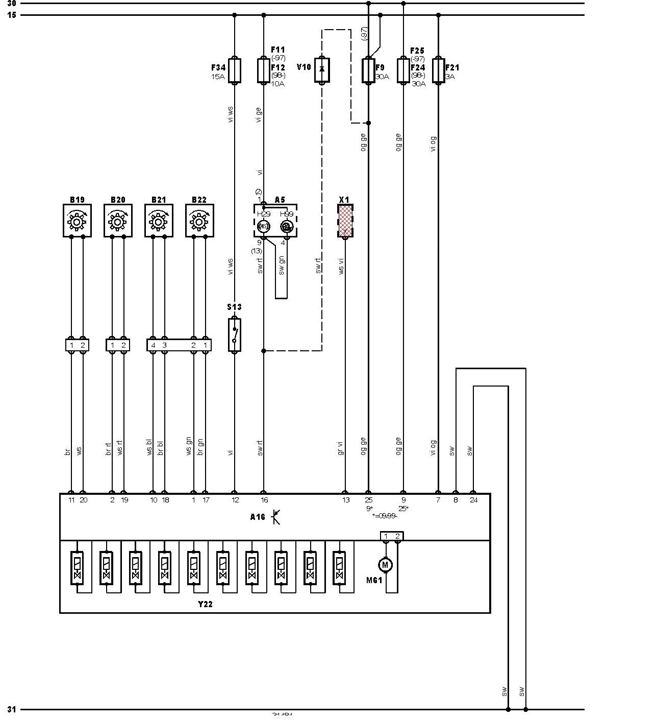 Ford Escort IV Schemat abs
