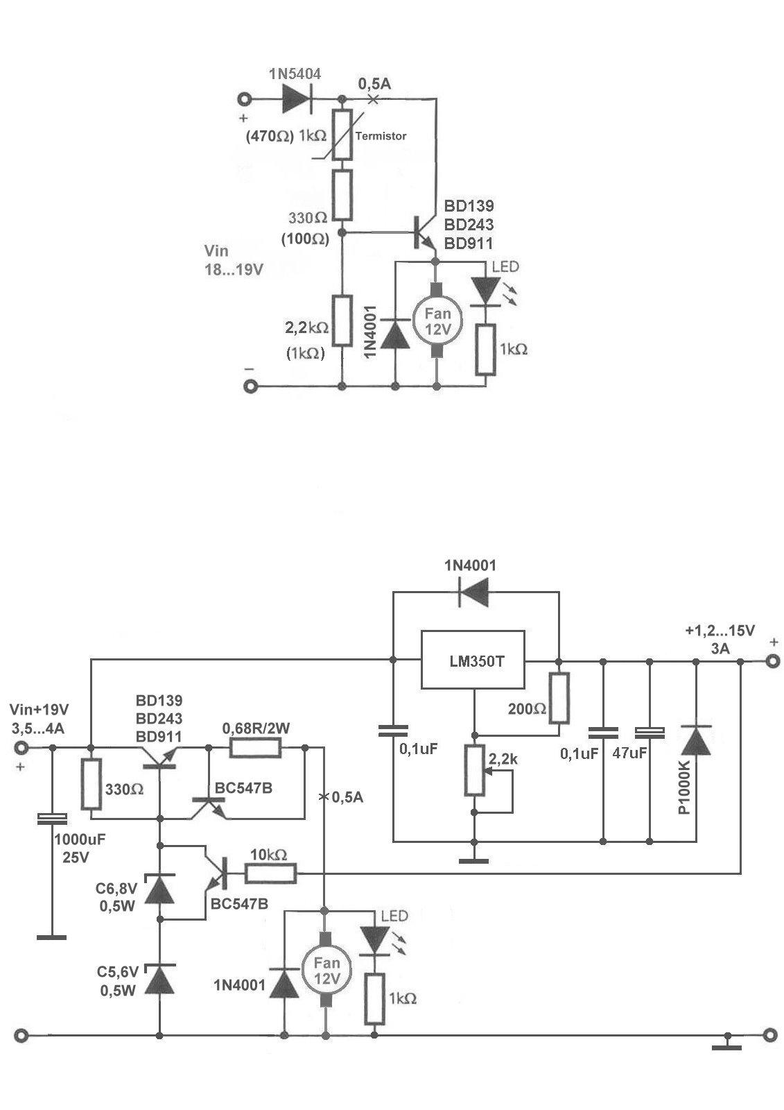 LM350 i regulacja obrot�w wentylatora