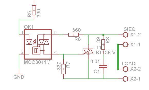 Atmega8 + sterowanie gniazdkiem sieciowym