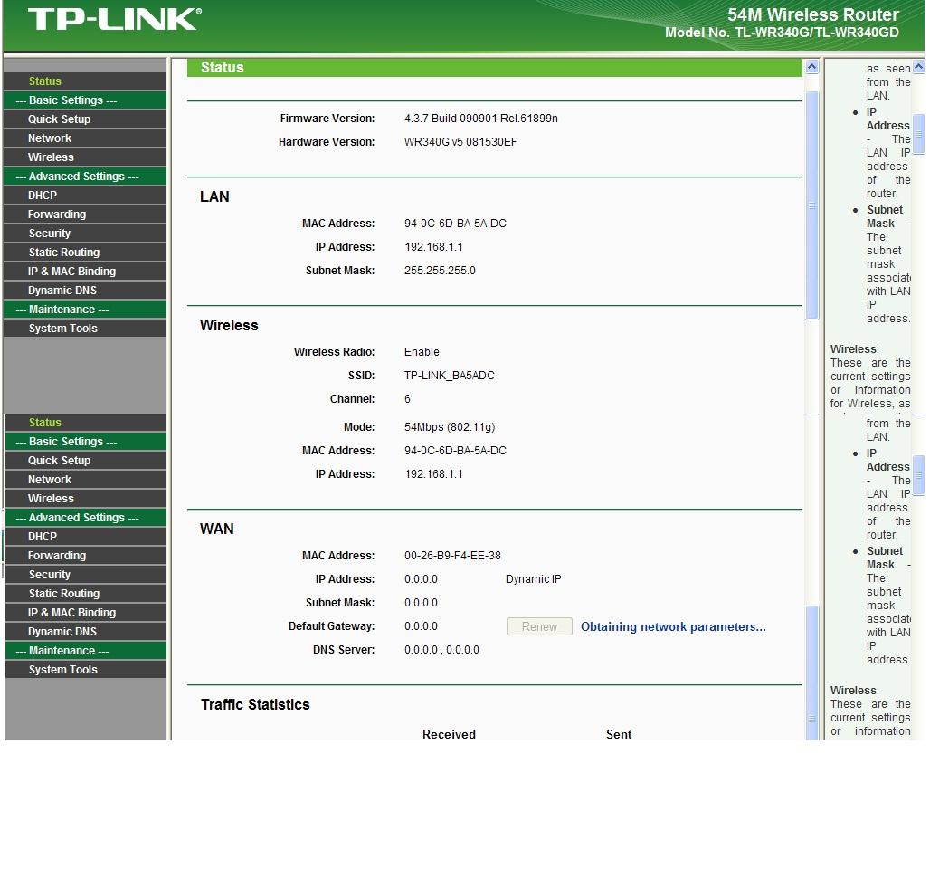 """TP Link tl wr340g. """"Weryfikacja ustawie� routera zako�czona b��dem""""."""