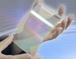 Folia, kt�ra przekszta�ca wy�wietlacz 2D w 3D