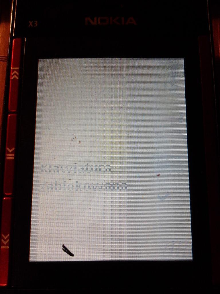NOKIA X3 - Nokia X3-00 Migaj�cy wy�wietlacz, co zepsute ?
