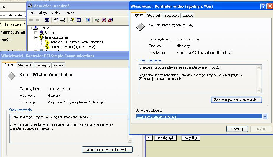 Sterowniki Lenovo G570 ATI HD 6370M dla Windows XP
