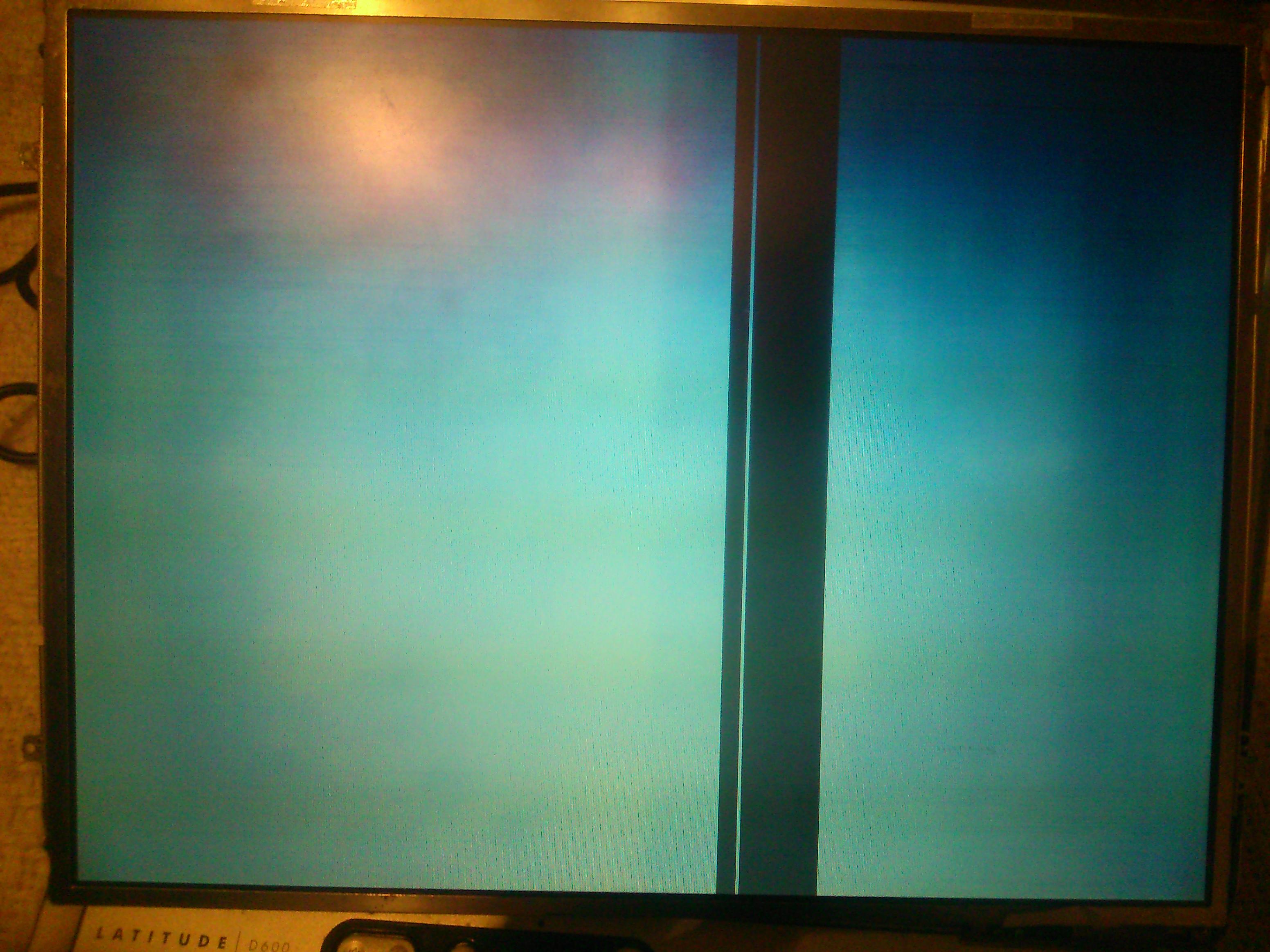 Dell d600 - nieprawidlowe dzialanie nowej matrycy