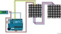 Matryce LED 8×8 MAX7219 sterowane klawiaturą i aplikacja przez bluetooth