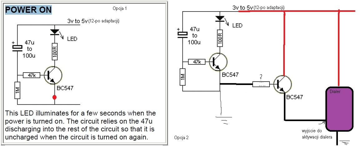 Wlacznik impulsowy / impulsowy aktywator alarmu / sekundowy zamykacz obwodu