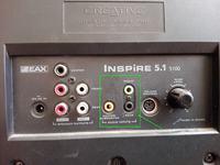 Głośniki Creative 5.1 5100 - jak poprawnie podłączyć?
