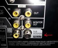Amplituner Pioneer VSX 817 - podłączenie subwoofera