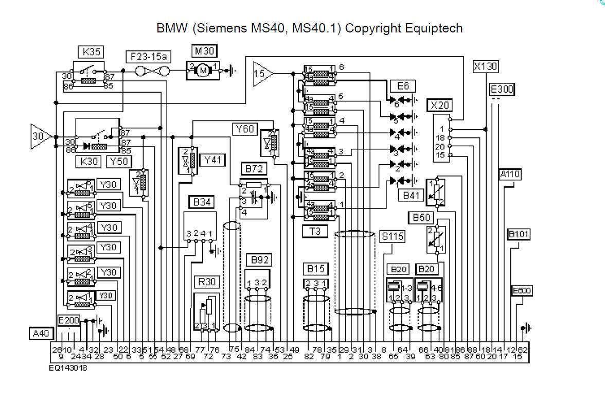 Bmw e36 2,0 benzyna - Czujnik po�o�enia wa�u siemens opis wyj�� diagnoza