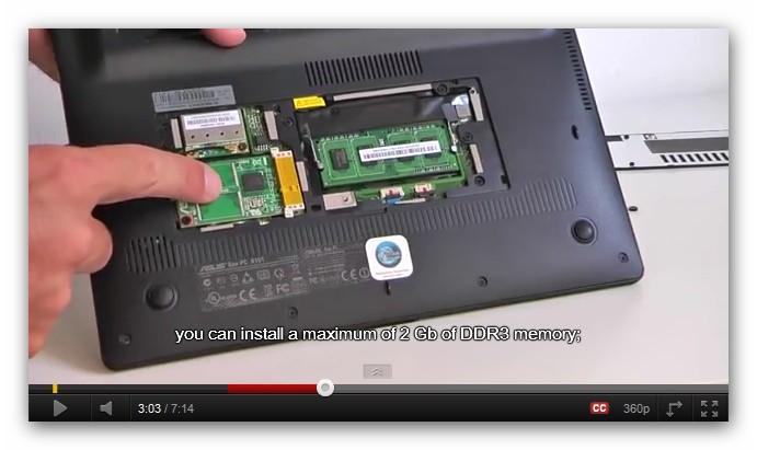 ASUS Eee PC X101 (rodzaj dysku SSD)