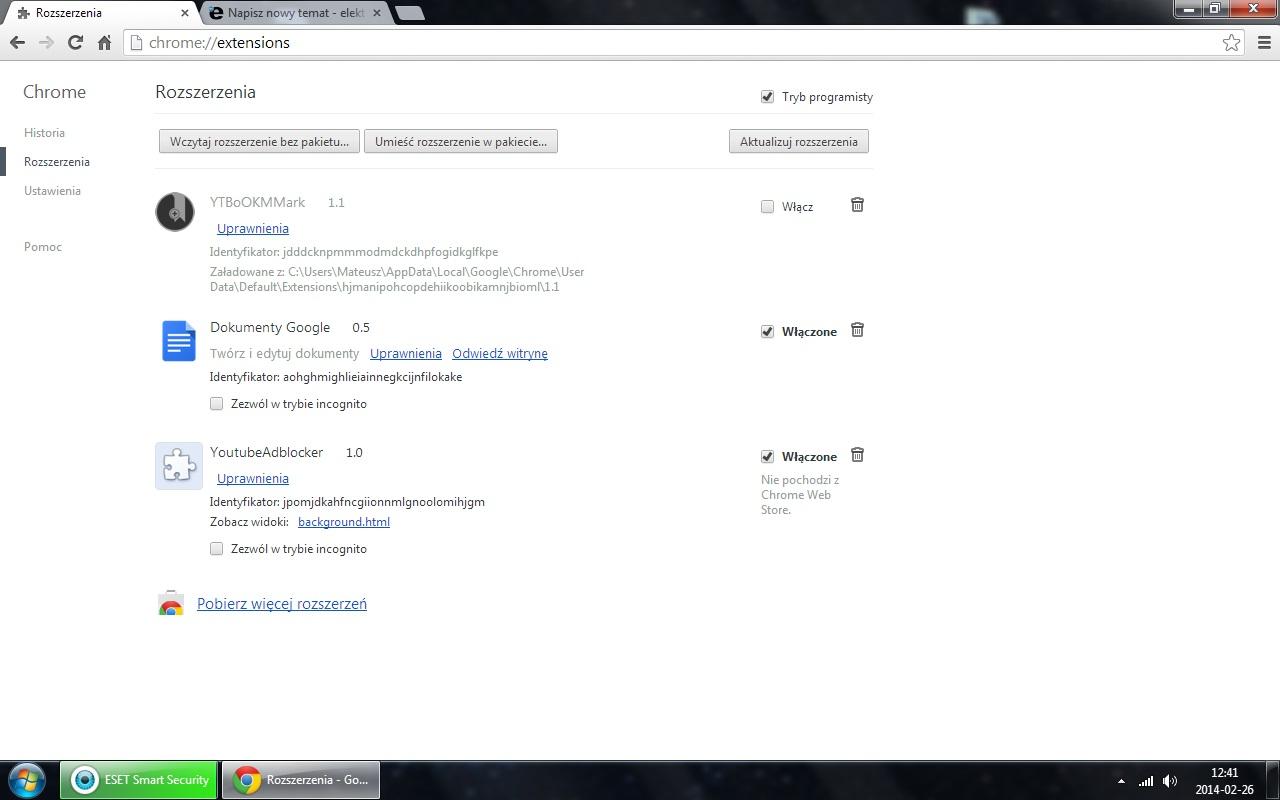 Google Chrome - Wirus w rozszerzeniu