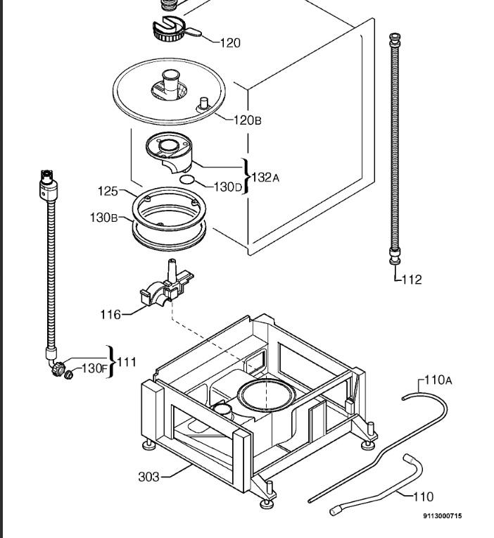Zanussi ZTM 6825 - Zmywarka pobiera wode raz lub dwa tylko po odkreceniu weza