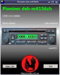 Pionieer/Honda - deh-m6156zh jaki kod w pliku