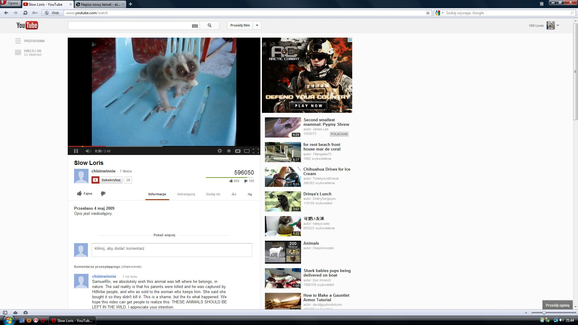 YouTube - Dziwny wygl�d strony