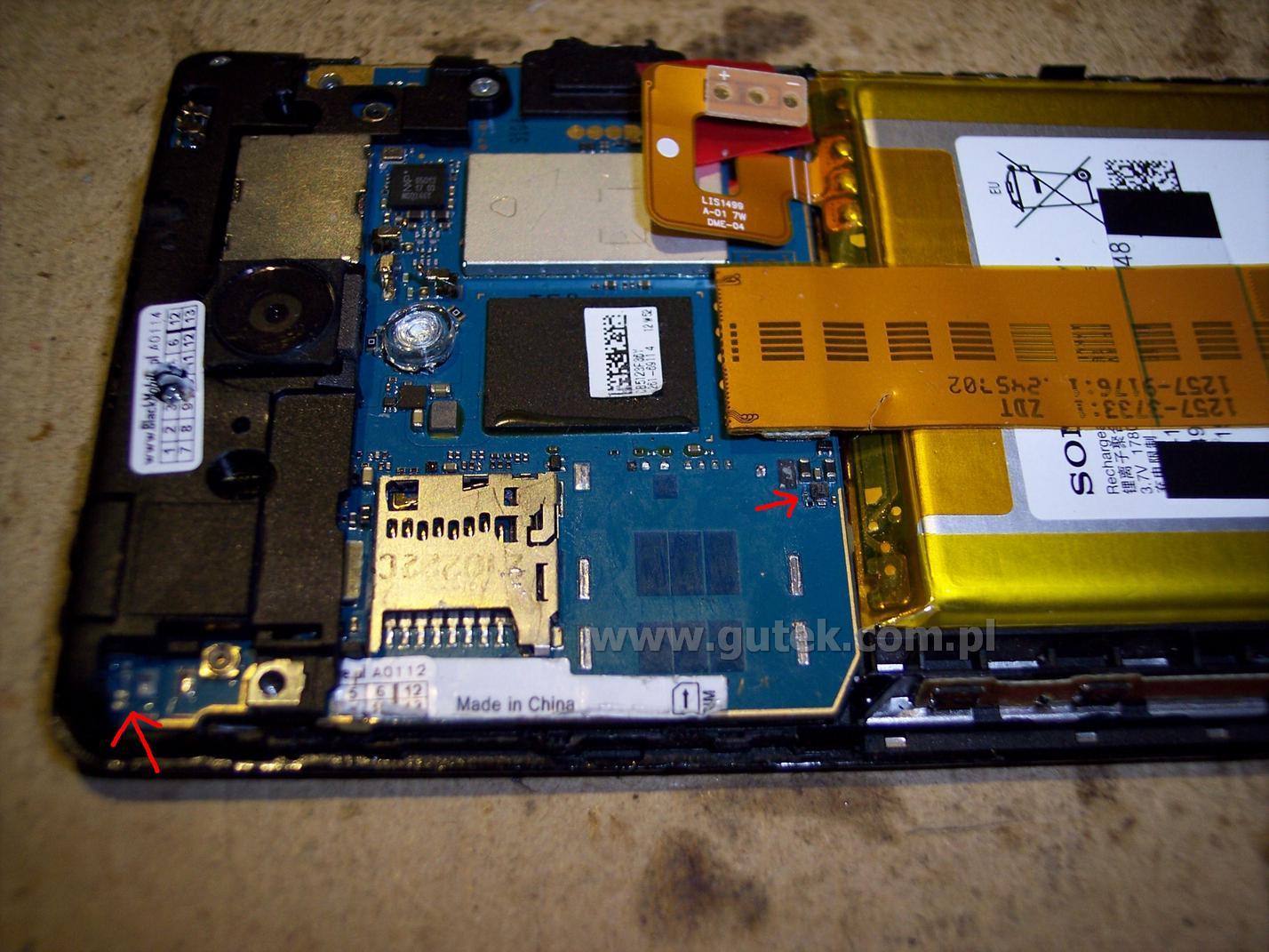 Sony Xperia T - identyfikacja brakuj�cych element�w