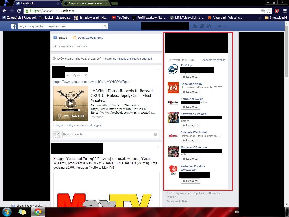 Adblock - Filtr na Facebooka
