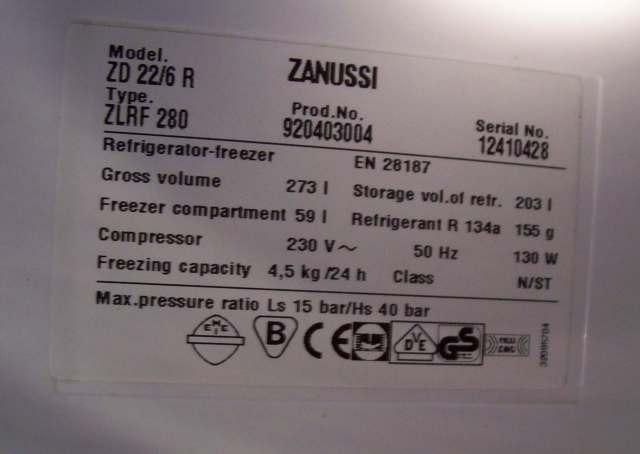 Lodówka Zanussi 22/6R sprężarka nie może wystartować
