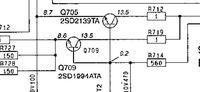 Panasonic CQ-DFX100N uszkodzony Q709 co to za tranzystor