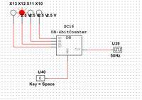 Multisim - Licznik asynchroniczny - złe 2 pierwsze liczby, resetowanie.