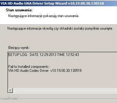 VIA/Win XP - Problem z instalacj� sterownik�w do audio VIA pod Win XP