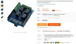Shield z czterema przekaźnikami, do Arduino - Made in China