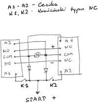 Sterowanie silnikiem DC przekaźnikiem przez kontaktrony - Napęd bramy