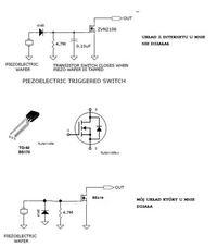 Układ przełącznika opartego na piezo sterujący joystickiem-nie działa