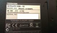 Toshiba satellite a300 - 15l - bateria BIOS