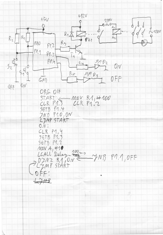 Sterowanie silnikiem jednofazowym przez uk 8051