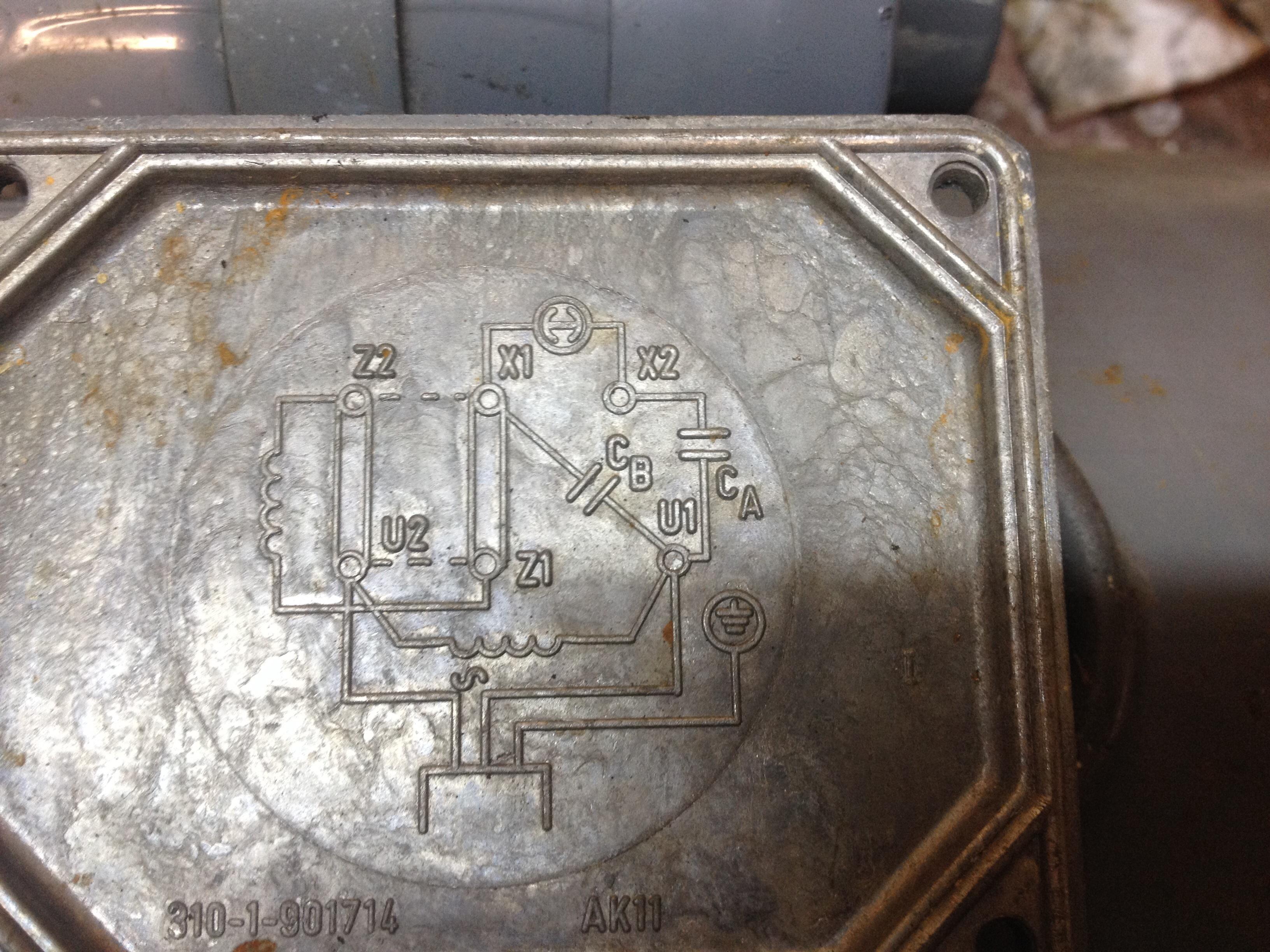 Schemat pod��czenia silnika jednofazowego