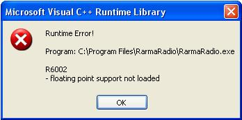 Microsoft Visual C++ runtime library error