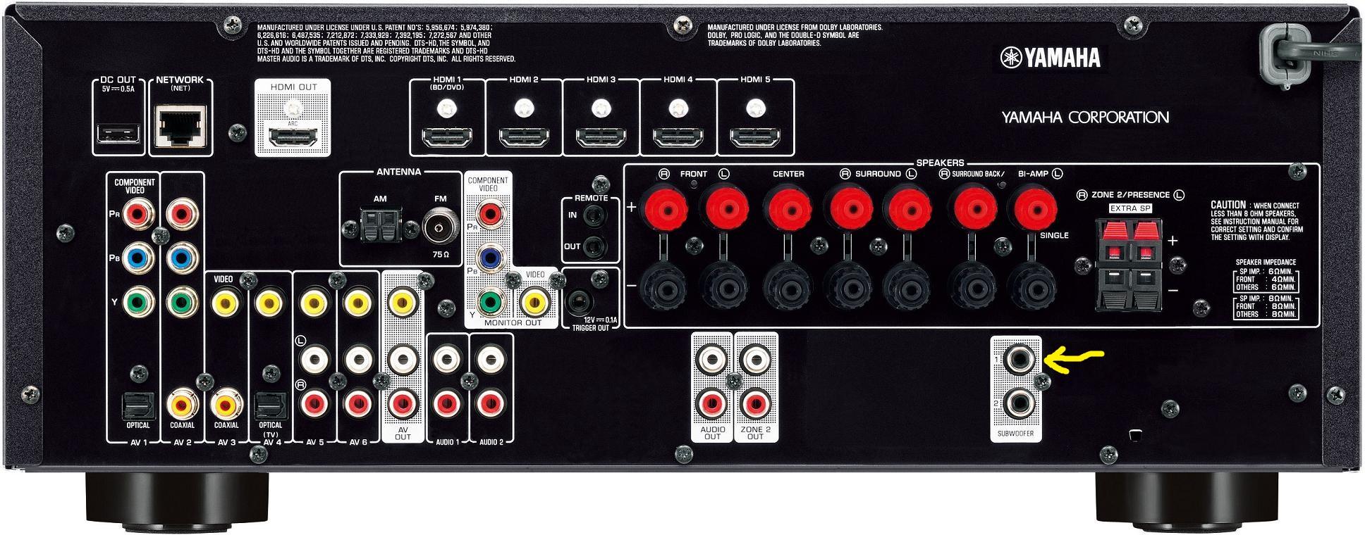 yamaha receiver rx v373 manual