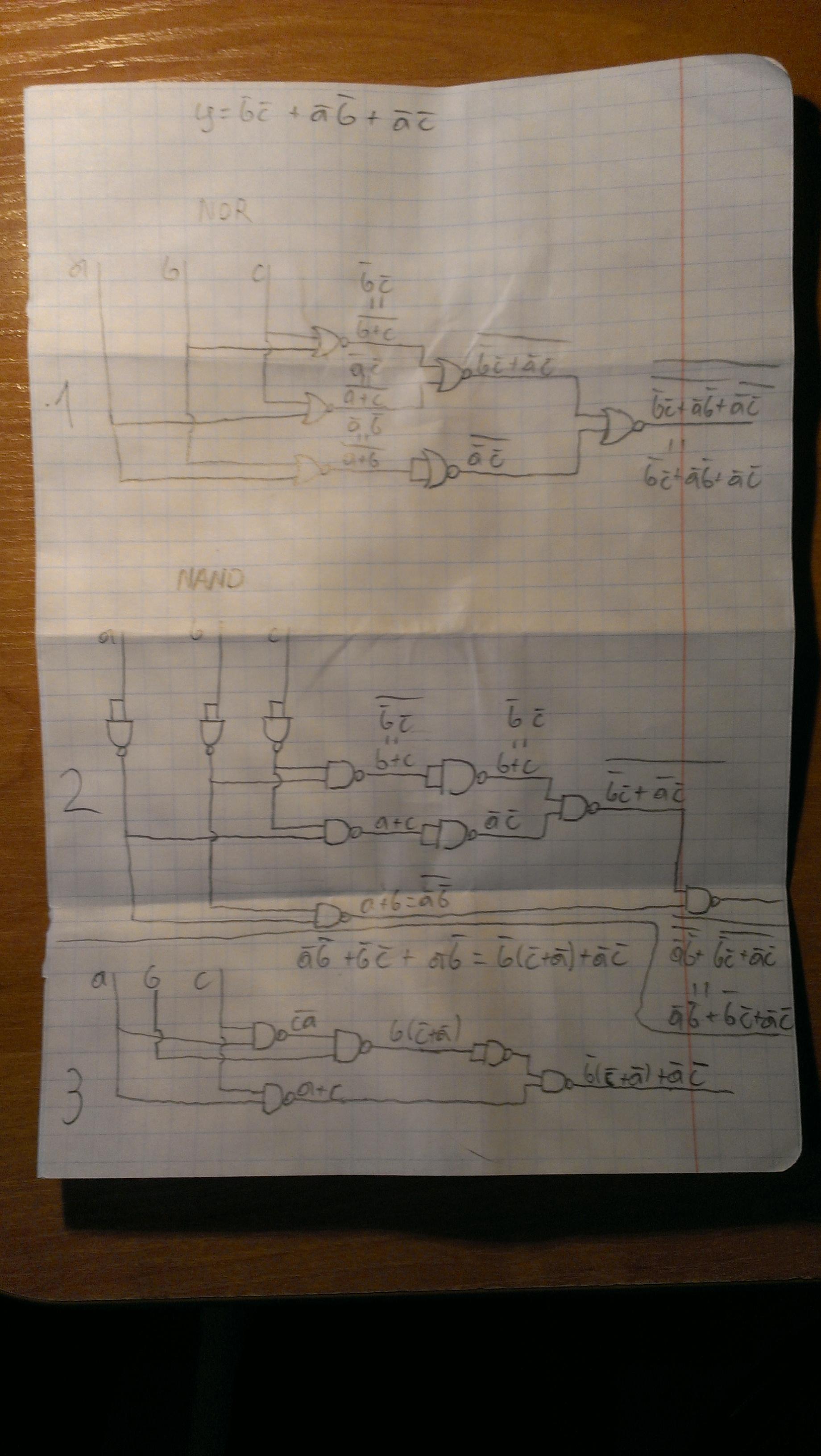 Uk�ady logiczne zbudowane z samych NAND�W lub NOR�W