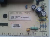 candy cs2 125 - Spalona część na module,jak się nazywa?