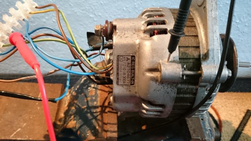 Alternator po przer�bce z magnesami N38, pr�dnica, wiatrak. I kilka pyta�....