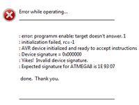 USBasp - Błąd programowania Atmega8a