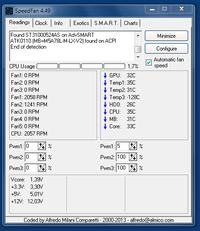 Głośny wentylator procesora.